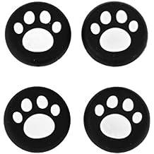 Weiß Schwarz Katzen Tatzen Analog Silikon Joystick Thumbstick Griffe Kappen für PS4 / Xbox One / PS3 / Xbox 360 Controller