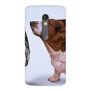 NEO WORLD Premium Dog Fan Back Case Cover for Moto X Play