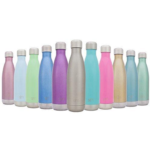 Simple Modern 1000ml Wave Wasserflasche - Trinkflasche Vakuum Isolierte Doppelwandige 18/8 Edelstahl - Hydro Camelbak Swell Bottle - Reisebecher, Flasche, Sporttrinkflasche - Edelstahl