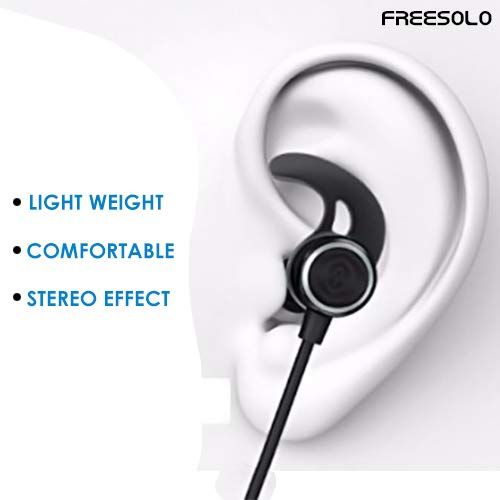47156ae4392 FREESOLO Wireless Bluetooth 4.1 in-Ear Noise Isolating Sport Earbuds with  Mic and Controller,