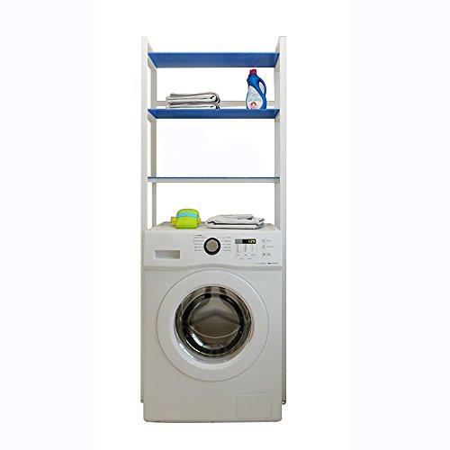 XRXY Support de machine à laver d'acier inoxydable / supports de toilette modernes / support de stockage de plancher de balcon de salle de bains ( Couleur : Bleu )