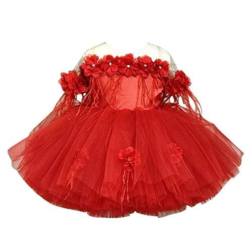 Tonsee Kinder Mädchen Prinzessin Kleider Tutu Rock Spitzen Kleider Partykleid Blume Hochzeit Patchwork Ärmelloses Bogen Abendkleid Festlich Kostüme Geschenk Babybekleidung Elegante Festzug Kleid