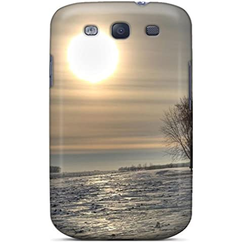 [pphua5553oQqUp]premium Phone Case For Galaxy S3/ An Old Barn Under A Winter Sun Tpu Case Cover