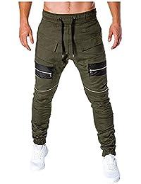 d17d9a6f1a4 Pantalon Homme Casual Chino Pantalon Homme Cargo Sport Jogging Slim Fit  Jeans Combat Sarouel Confortable Baggy