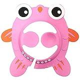 PinzhiBaby Shampoo Hat Weiche verstellbare Duschkappe Deckel Haarwaschen Schild Hut für Kinder Kleinkind Kinder (Pink)