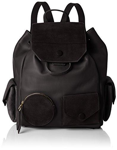 Liebeskind Berlin Damen Backpackm Capoes Rucksackhandtasche, Schwarz (Black), 21x27x37 cm