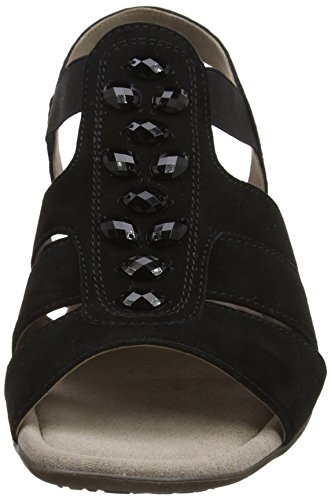 Gabor Shoes Fashion, Sandali con Zeppa Donna Nero (schwarz 17)