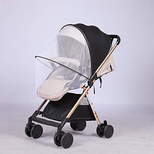 Queta Universal Mückennetz/Insektenschutz Mit Sonnenverdecke, Schutz vor Wespen und Stechmücken Feinmaschiges Netz für Kinderwagen, Babywagen, Buggy