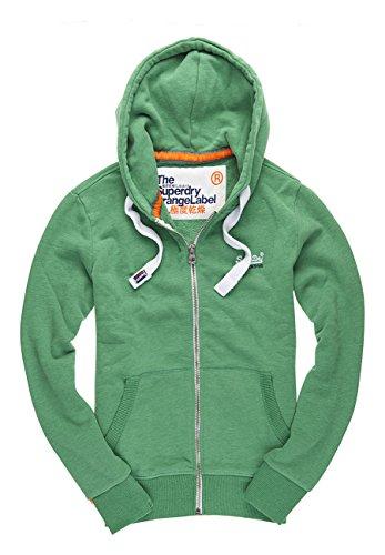 SUPERDRY Orange Label Ziphood, Felpa Uomo, Lawn Green Marl Vnw, M