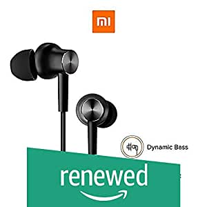 (Renewed) Mi Earphones with Mic (Black)