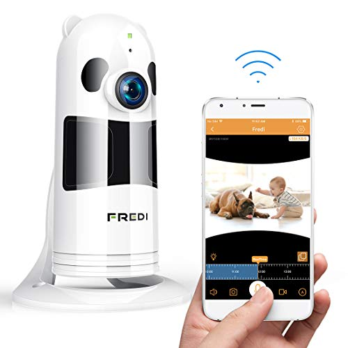 FREDI Wifi Camera, HD 1080P Wireless Baby Monitor Wifi Security Wide Viewing Angle IP Camera with IR Night Vision /2-way Talking/Motion Detection Loop recording(Without SD Card) (White) Test