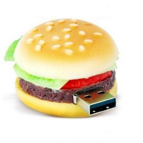 Preisvergleich Produktbild 8GB Gift heißen netten Hamburger Modell USB 2.0-Flash-Memory Stick Pen Drive