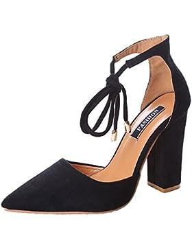 Minetom Donna Estate Scarpe Col Tacco Stiletto Elegante Cinturino Caviglia Tacco Alto Pompe Partito Sandali Con...