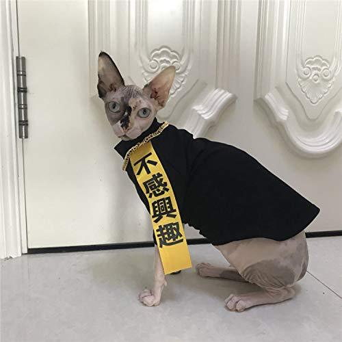 Kostüm Sphinx - lipanpan Sphinx Clothing Summer New Hairless Cat Clothes Black Cotton Pet Clothing