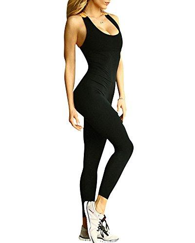 ZongSen Donne Maniche della Maglia Pantaloni di Yoga di Sport Tuta Pagliaccetto Orange