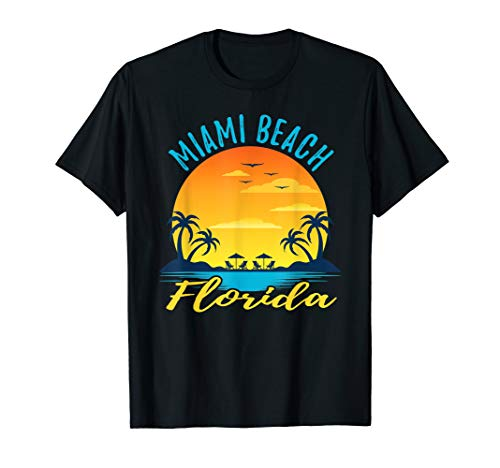 Sommerzeit in Miami Beach Florida T-Shirt