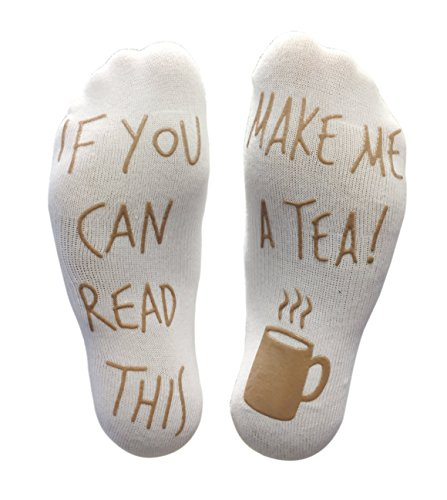 'If You Can Read This Make Me A Tea!' Funny Novelty Socks For Those People That Love Tea (Ankle Lounge Socks)