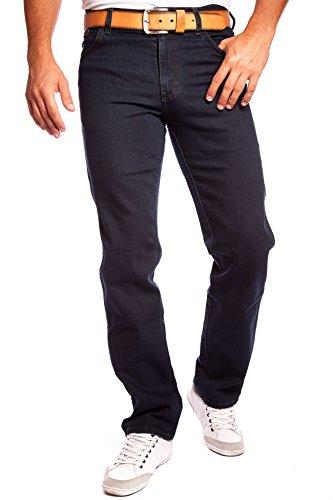 Mens Wrangler Texas Stretchable Regular Straight Leg Branded Denim Jeans Blue Black