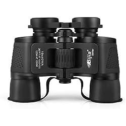 HBJP Jumelles 10x40-Jumelles Professionnelles-HD Zoom Télescope étanche - Télescope Compact, léger et Haut de Gamme