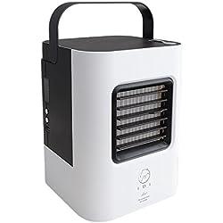Cooler Ultra Portable Compact Personal Space Climatiseur Ventilateur Refroidisseur Ordinateur de Bureau Ventilateur Silencieux Ventilateur climatiseur pour Le Bureau, Dorm -C 13x13x17cm(5x5x7)