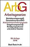 Arbeitsgesetze ArbG: mit den wichtigsten Bestimmungen zum Arbeitsverhältnis, Kündigungsrecht, Arbeitsschutzrecht, Berufsbildungsrecht, ... und Verfahrensrecht (dtv Beck Texte) -