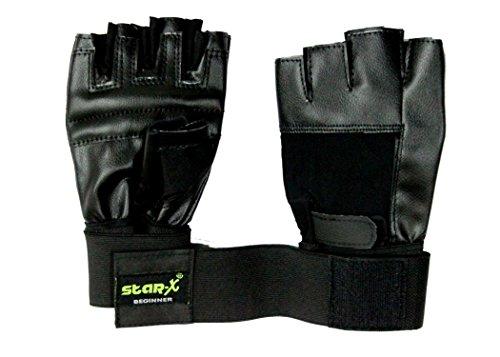 StarX Beginner Foam Gym Gloves, Adult (Black)