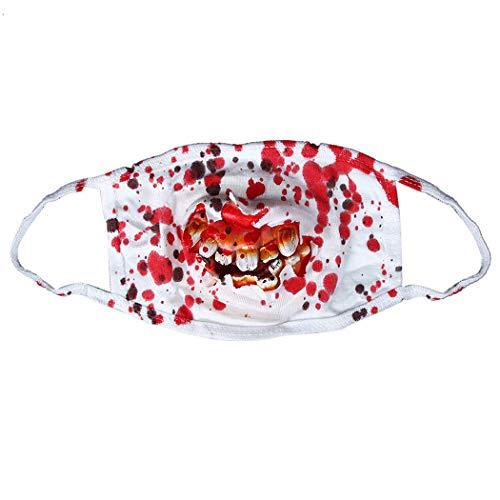 (Zoylink Halloween Mundmaske Kostüm Mundmaske Scary Zähne Decor Trick Prop für Party)