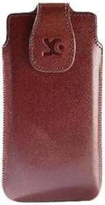 Suncase Original Echt Ledertasche für Samsung Galaxy S4 i9500 (i9505 LTE Version) braun