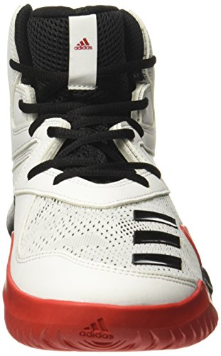 Adidas Crazy Team 2017, Chaussures De Basketball Multicolores Pour Homme (ftwr White / Core Black / Scarlet)