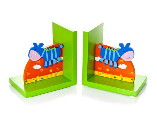 Mousehouse Gifts Kids Bookends Safari Animal Zebra for Girls and Boys Nursery and Bedroom Decoration