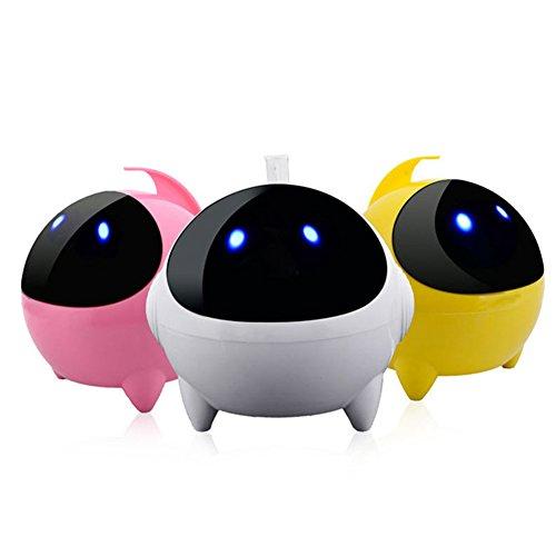 JSGJYX Bluetooth Lautsprecher 1 PSC Mini Computer Lautsprecher Portable Kabel Cartoon Roboter Sprechen Besser Bass 24-Stunden Spielzeit Musik in Stereo Lautsprecher Sound Bereich