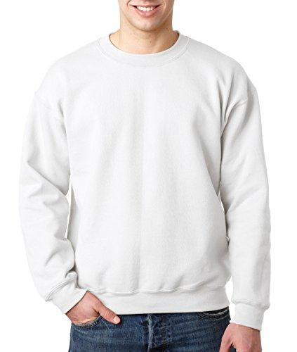 Gildan Heavy Blend Pullover mit Rundausschnitt (S) (Weiß) S,Weiß