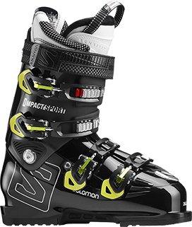 SALOMON IMPACT SPORT 100 Ski Schuh 2018 black/acid green, 27 (Alpin-ski-stiefel Salomon)