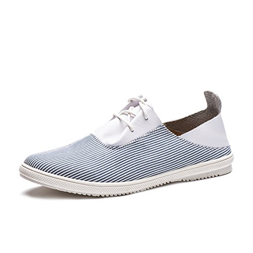 Zapatos de lona clásica de resorte plano de barras de URL/Zapatos de hombre/ casual zapatos estudiantes de encaje corte bajo/Zapatos del tablero-C Longitud del pie=25.3CM(10Inch) ZvvJze3