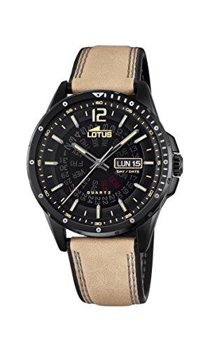 Lotus Watches Reloj Análogo clásico para Hombre de Cuarzo con Correa en Cuero 18525/4