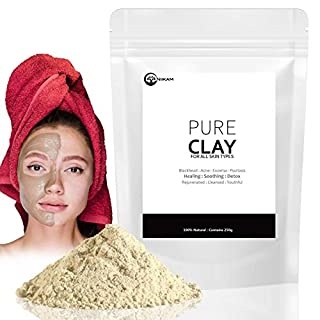 NIIKAM Bentonite Clay Mask Aztec Indian Healing Clay for Deep Pore Cleansing for Men & Women