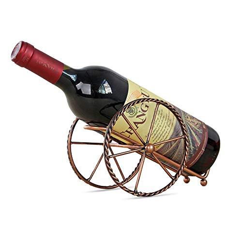 AOLVO Vino Wein Rack Eisen Vintage Pariser Stil Bronze Kutsche, Wein Aufbewahrung Inhaber Freistehende Fancy Display Rack Organizer Perfekte Bar, Keller, Kabinett Pantry in Classy - Keller Rack