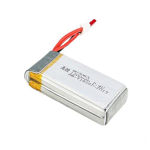 7,4V 1200mAh Lipo Akku Batterie für MJX X101 Wltoys V353 V353B V666 V262 A949 A969 A979 K929 V912 V915 yizhan x6 Ersatzakku Ersatzteile - 2
