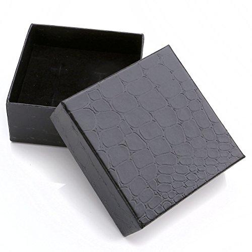 """PiercingJ """"Her King"""" und """"His Queen"""" Schrift ein Paar Partner Armbänder aus Edelstahl Curb Kette Armband für Herren Damen 7.3""""-10.3"""", silber rosegold schwarz (Non-Gravur)"""