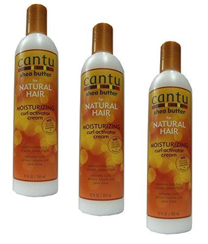 3x Cantu Shea Butter Moisturizing Curl Activator Cream 355ml (insgesamt-1065ml)