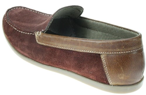 Red tape Frome Bleu marine et gris-dérapant en daim Bordeaux loafer chaussures Marron - marron