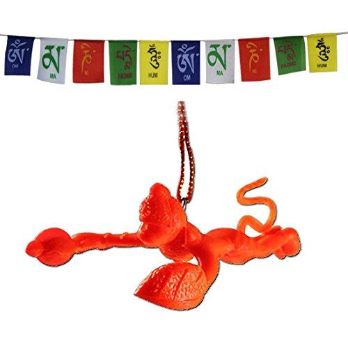 Divya Mantra Combo Of Orange Flying Hanuman Car Mirror