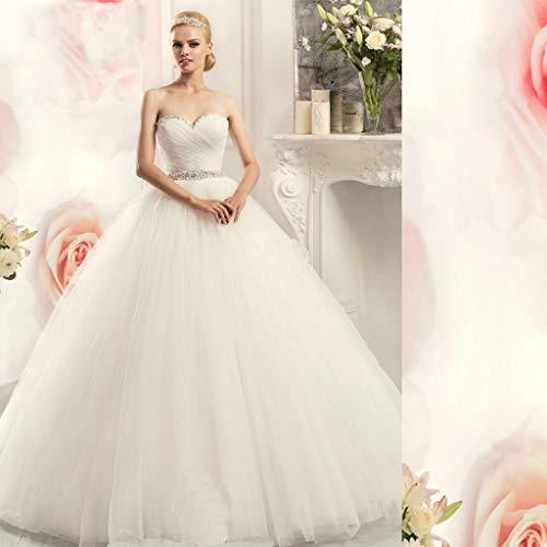 Jyl, abito da sposa per damigella d'onore, scollatura profonda, retro aperto, lunghezza pavimento, stile vintage, elegante, pure white, us:10 (xxl)