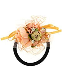Anuradha Art Cream Colour Stylish Designer Hair Accessories Hair Band Stylish Rubber Band For Women/Girls