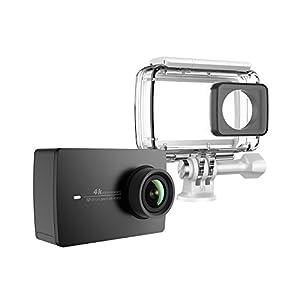 YI 4K Cámara de Acción/Deportiva/cámara de Video 4k WiFi Ultra HD con Carcasa Impermeable de Lente de Amplio ángulo con una Pantalla táctil de 2.19pies (EU Versión) (Negro)