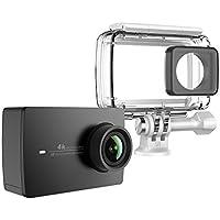 YI 4K Action Kamera Schwarz mit wasserdichtem Gehäuse 4K/30fps 12MP Action Cam mit 5,56 cm (2,2 Zoll) LCD Touchscreen WiFi und App für IOS/Andriod Elektronische Bildstablisierung EIS Sprachbefehl