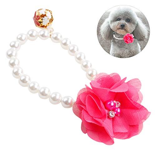 Legendog Fashion Fake Flower Pearl Decor Hundehalsband Decor Haustierhalsband Katzenhalsband Heimtierbedarf