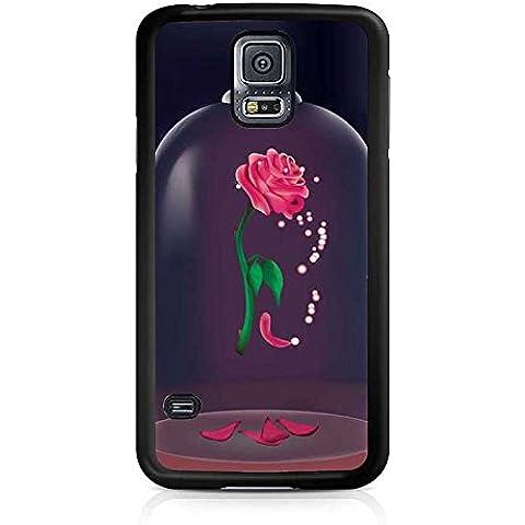 Diseño de carcasa - la bella y la bestia rosa-antideslizante Samsung Galaxy S5 i9600 ultrafina de plástico con diseño de carcasa de