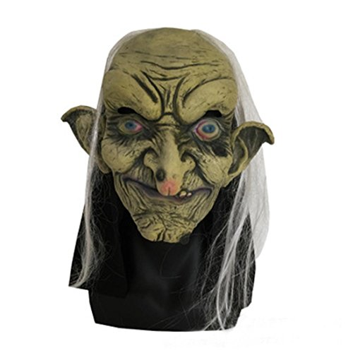 Horror Maske Halloween Alte Hexe Gruselige Kostüm - Alte Hexe Kostüm