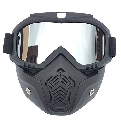 Beydodo Damen Herren Schutzbrille Motorrad Brille Nacht Silber Arbeitsbrille Brillenträger Schutzbrille zum Schießen
